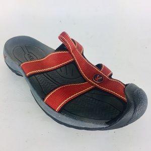 Keen Slide Slip On Sandal Protected Toe Rust Sz 8